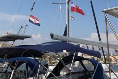 Bandera-YKP-w-marinie-w-Chorwacji